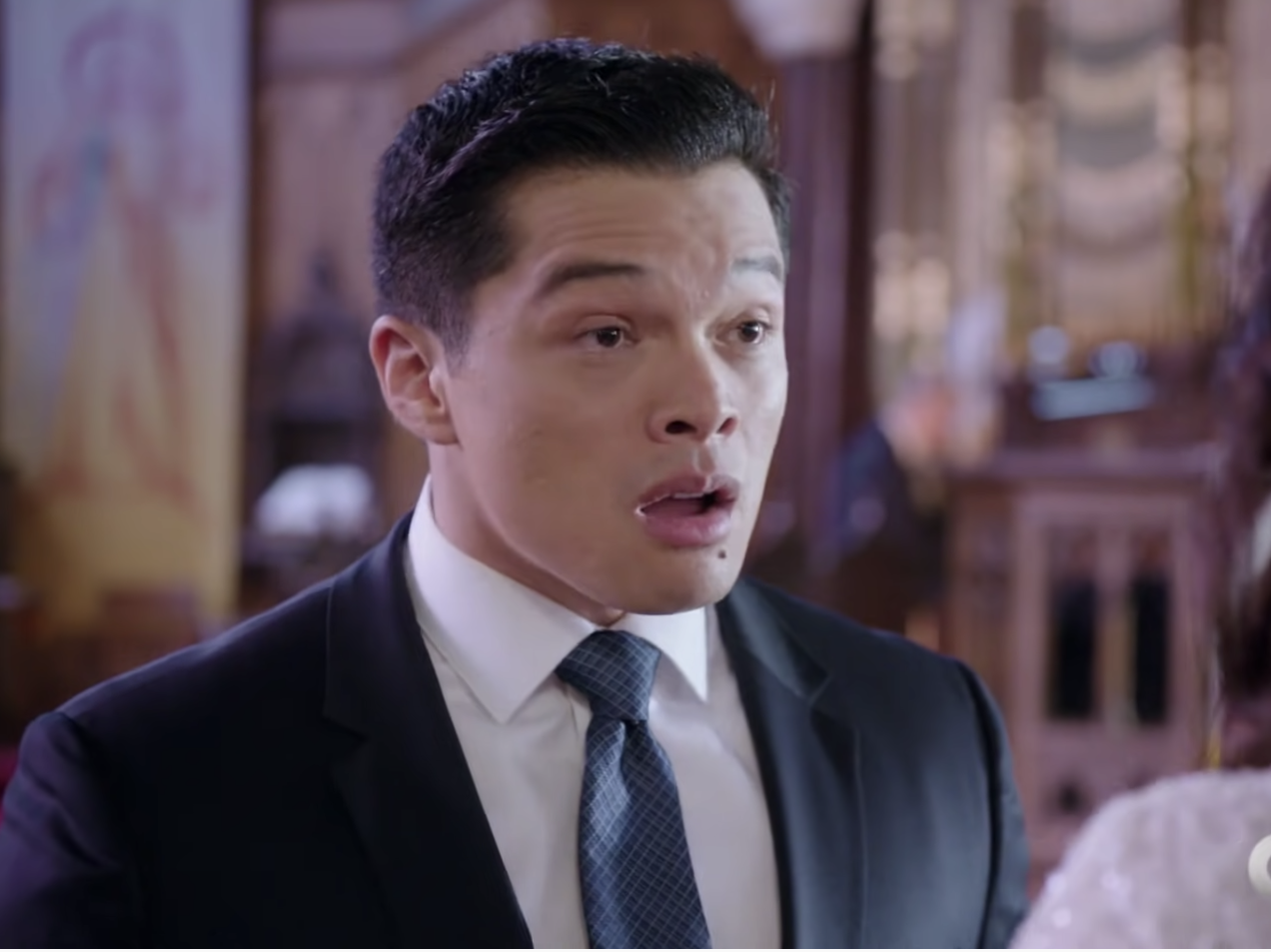 Vinny Rodgriguez as a shocked groom