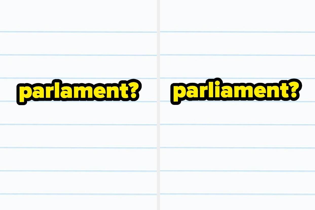 """Parlament? or parliament?"""