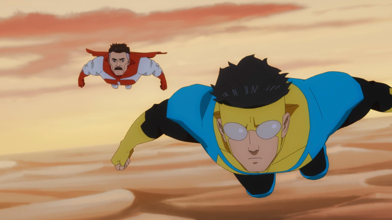 Mark and Nolan flying through the desert