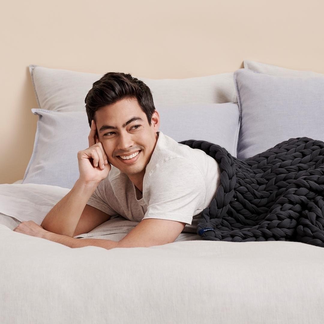 Model using the black blanket