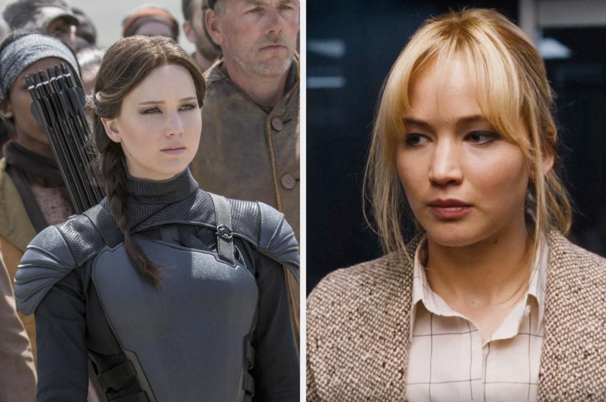 Jennifer Lawrence as Katniss and Joy