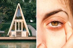 house and eye