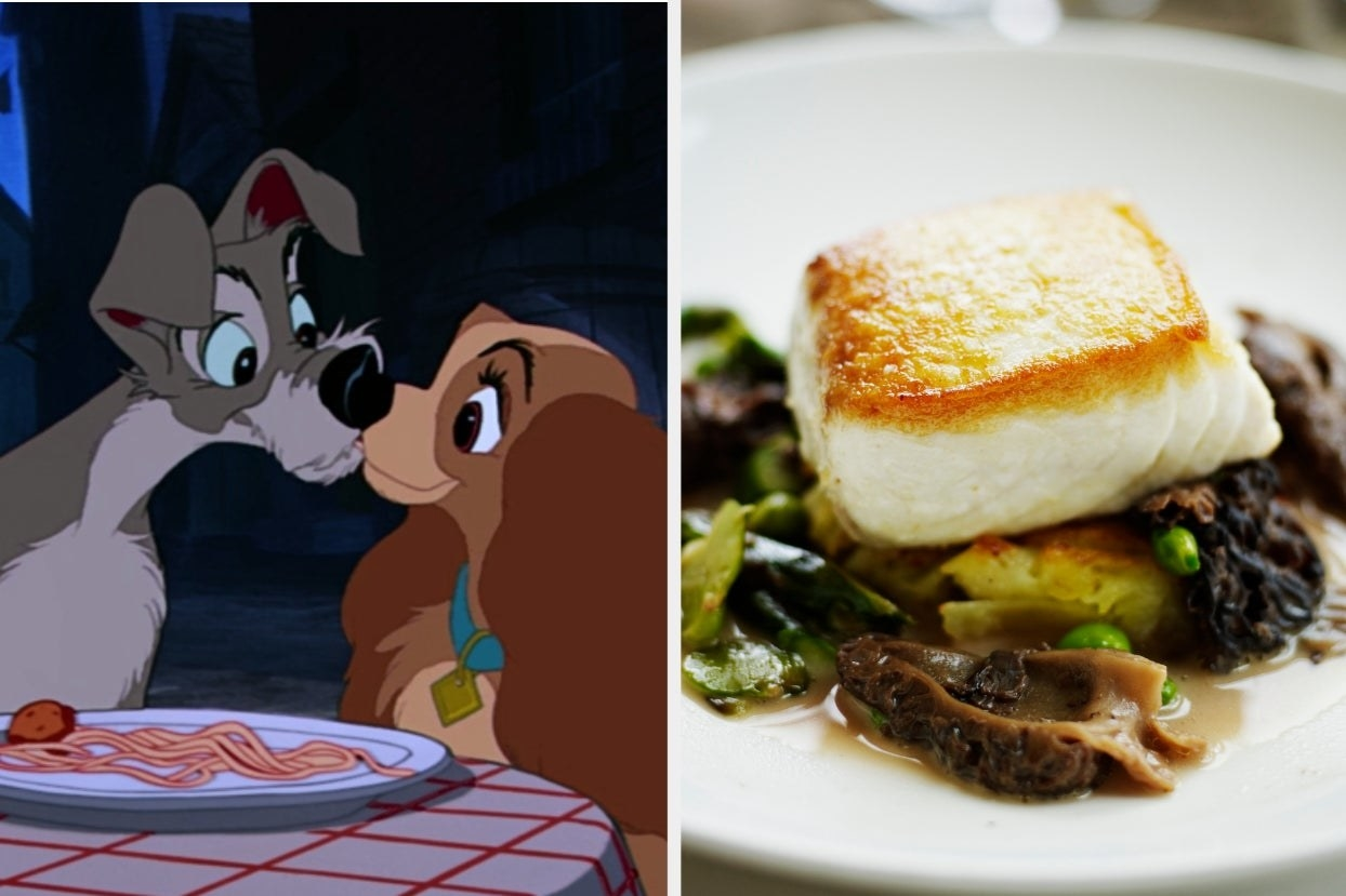 Lady and the Tramp and seared halibut