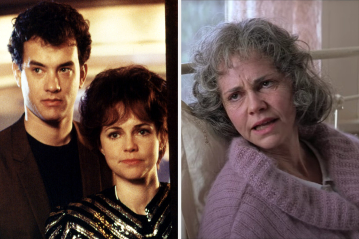 Sally Fields and tom Hanks in Punchline then Sally Fields as Forrest's mom in Forrest Gump