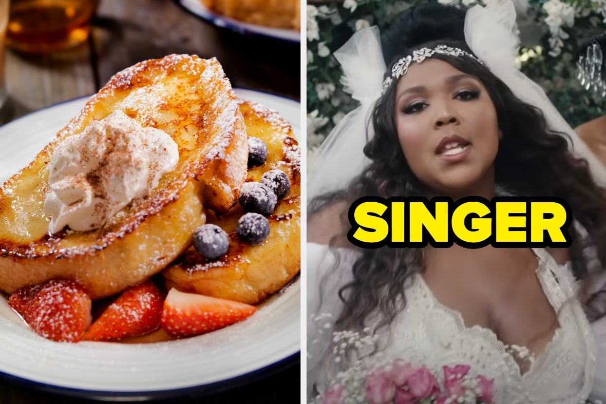 """French toast / Lizzo wearing a wedding dress in """"Truth Hurts"""""""