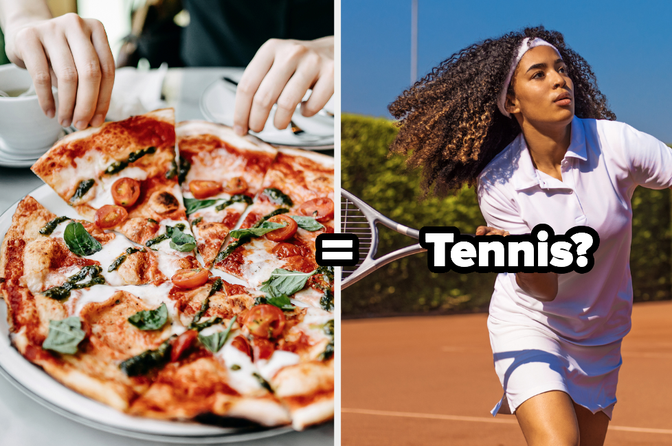 Pizza equals tennis player
