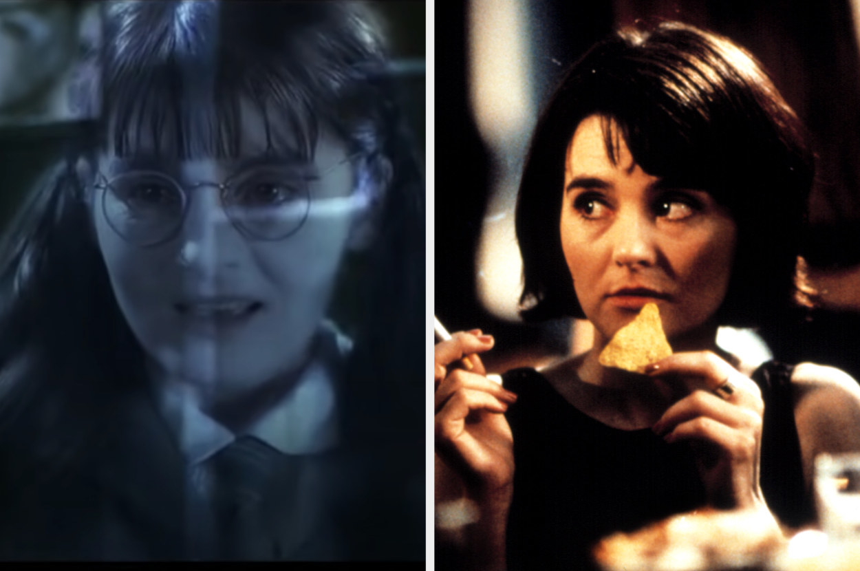 Moaning Myrtle and Jude in Bridget Jones' Diary