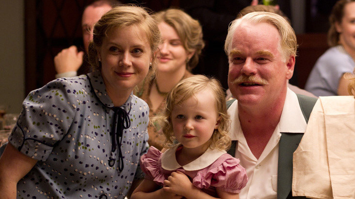 Amy Adams and Philip Seymour Hoffman in the master