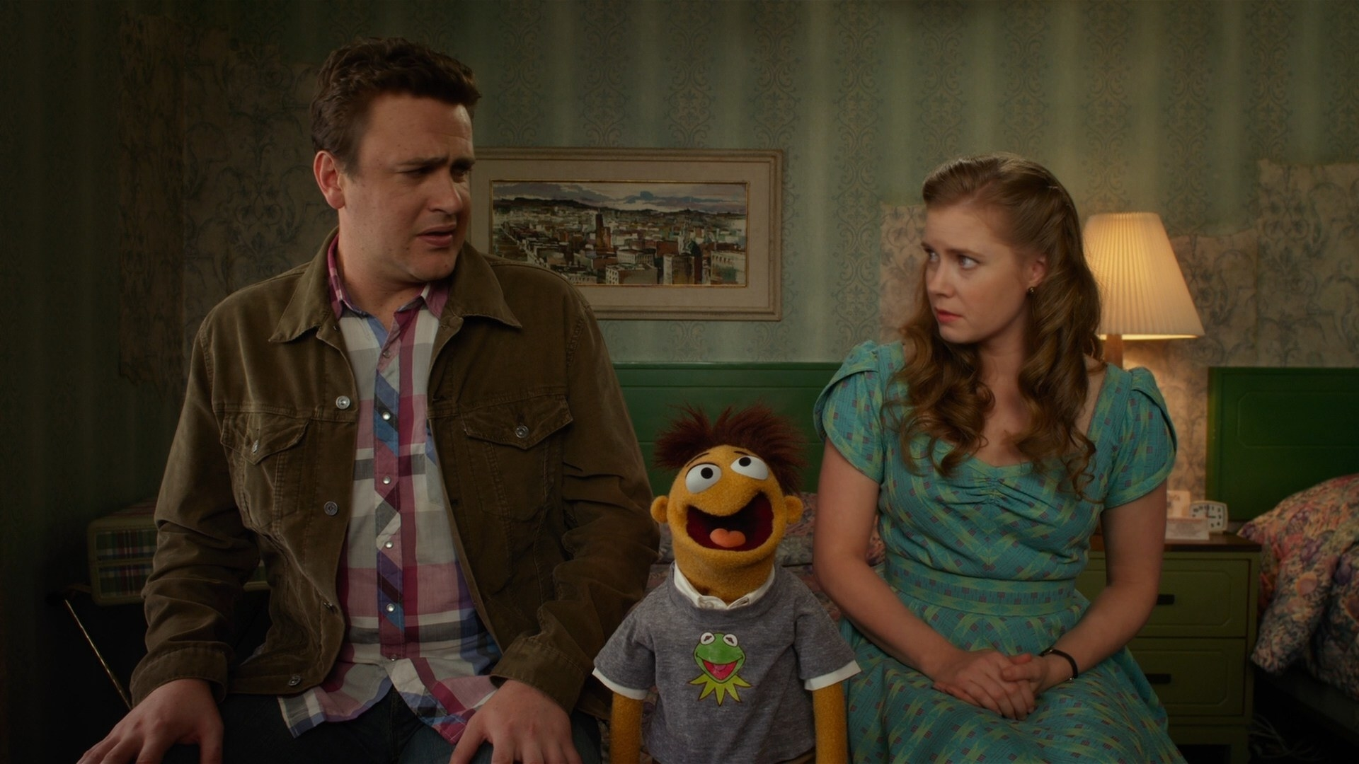 Amy Adams and Jason Segel in the muppets