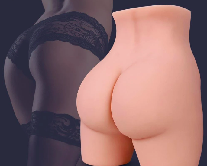 The back of a vagina-having sex doll