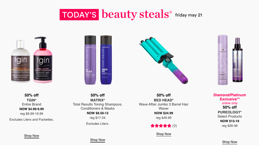 graphic showing Friday's deals
