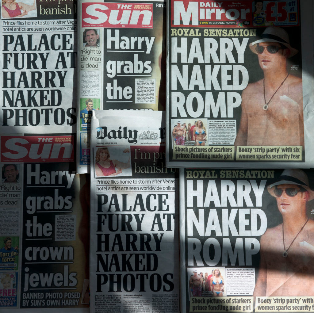 Tabloids featuring Harry on the cover