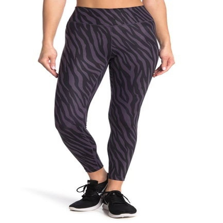 zebra print leggings