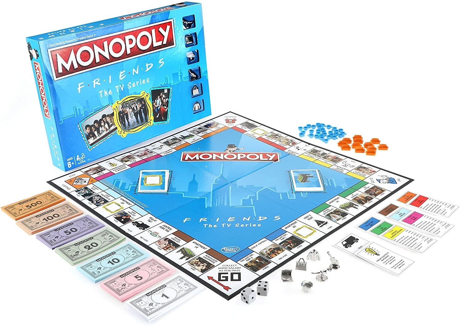 the friends themed monopoly board