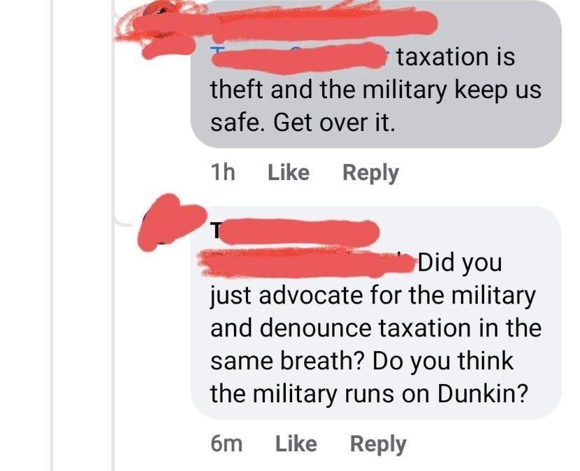 person who doesn't understand how taxes work