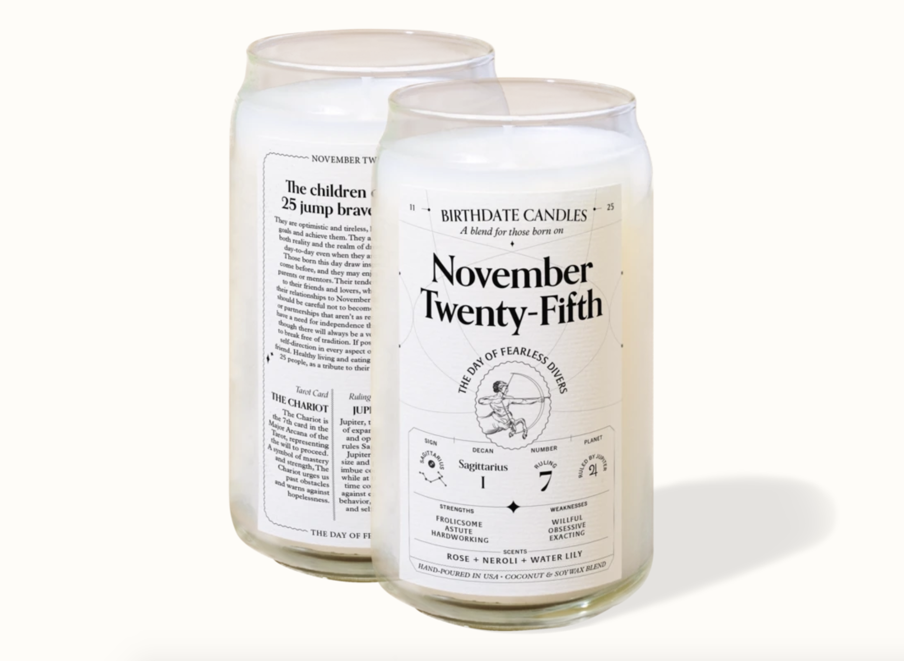 two november 25th birthdate candles