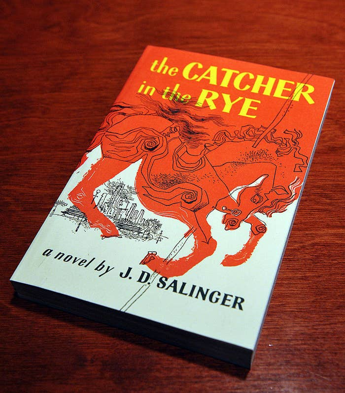 An illustrated horse on the cover of Catcher in the Rye