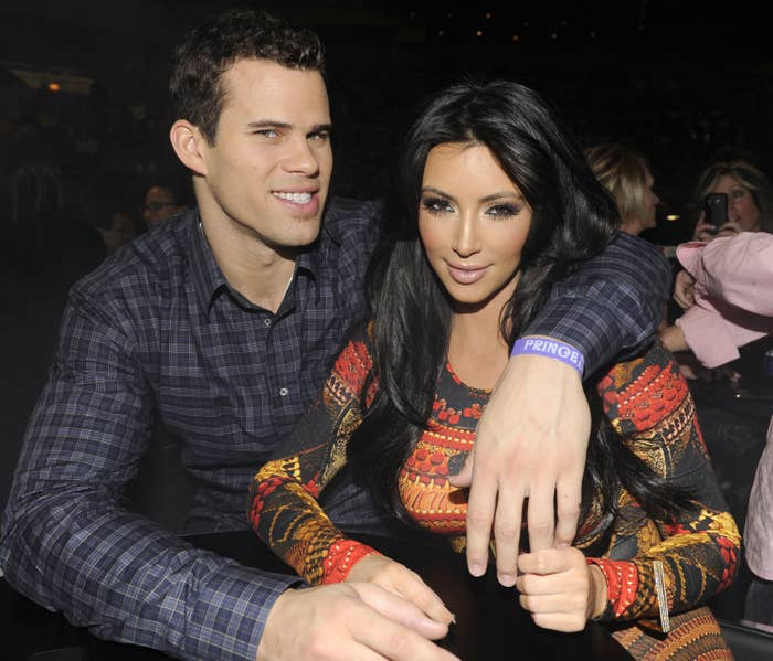 An old photo of Kris and Kim