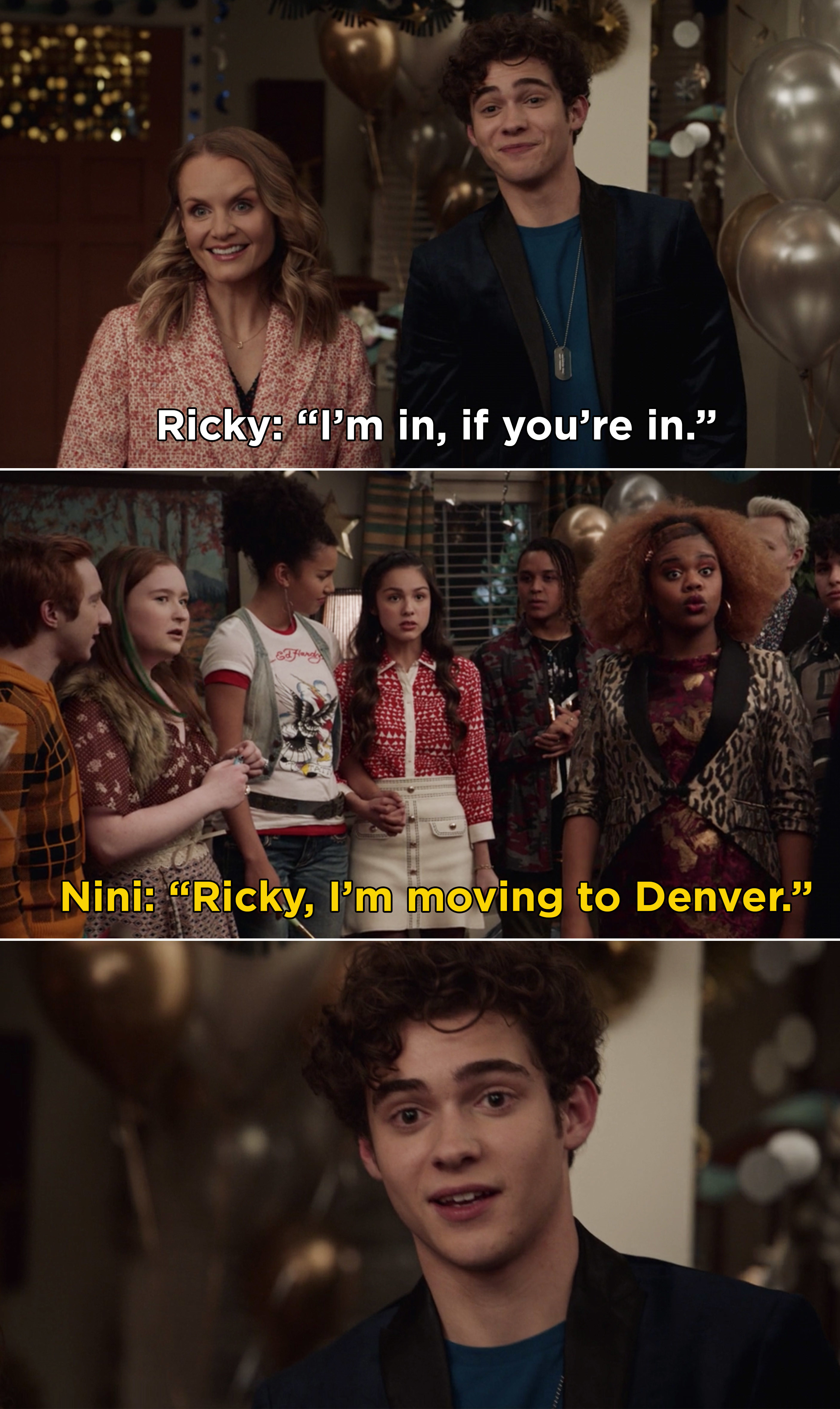 """Nini telling Ricky in front of everyone, """"Ricky, I'm moving to Denver"""""""