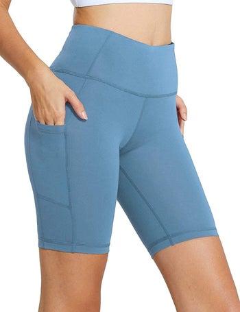 light blue bike shorts