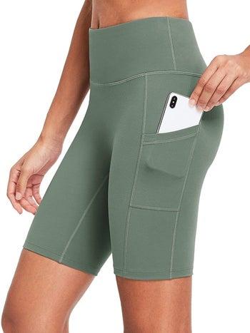 light green bike shorts