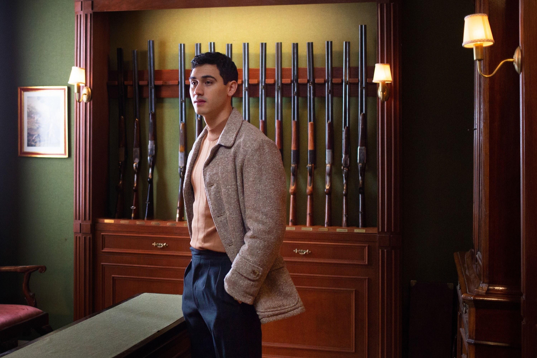 Alejandro Speitzer in a gun room