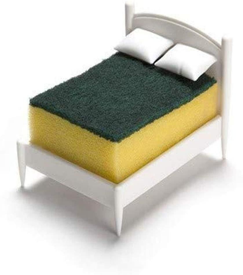 a sponge holder shaped like a bed