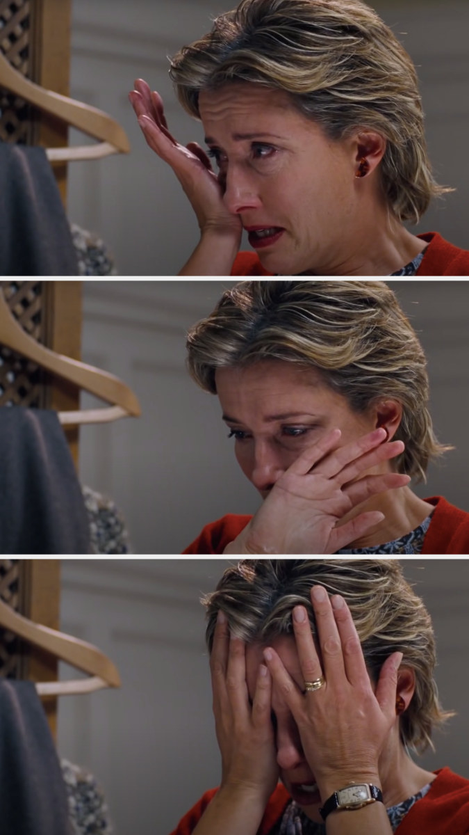 """Karen from """"Love, Actually"""" crying"""