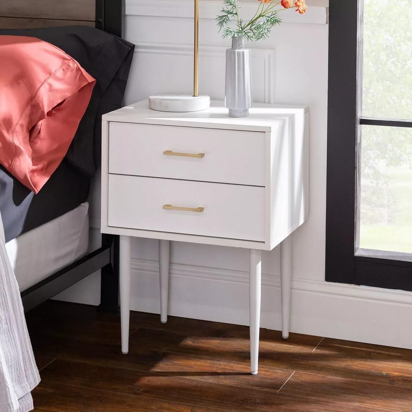 The white nightstand