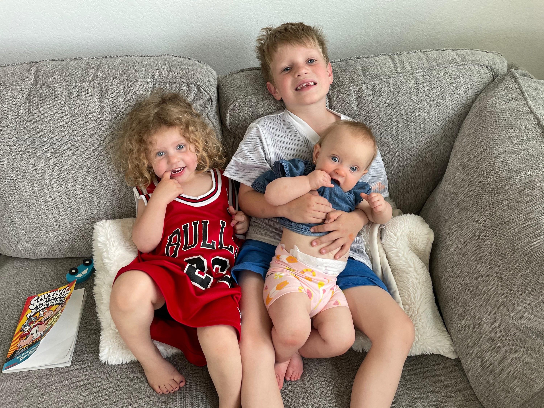The author's three kids