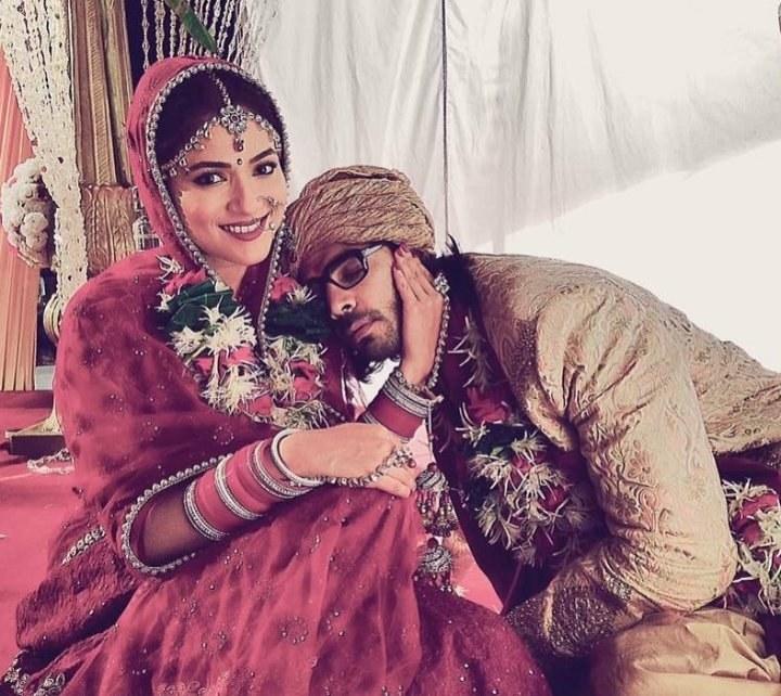 rajni and shaan at their wedding