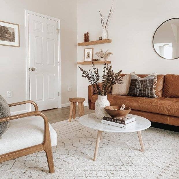 a cream moroccan trellis rug
