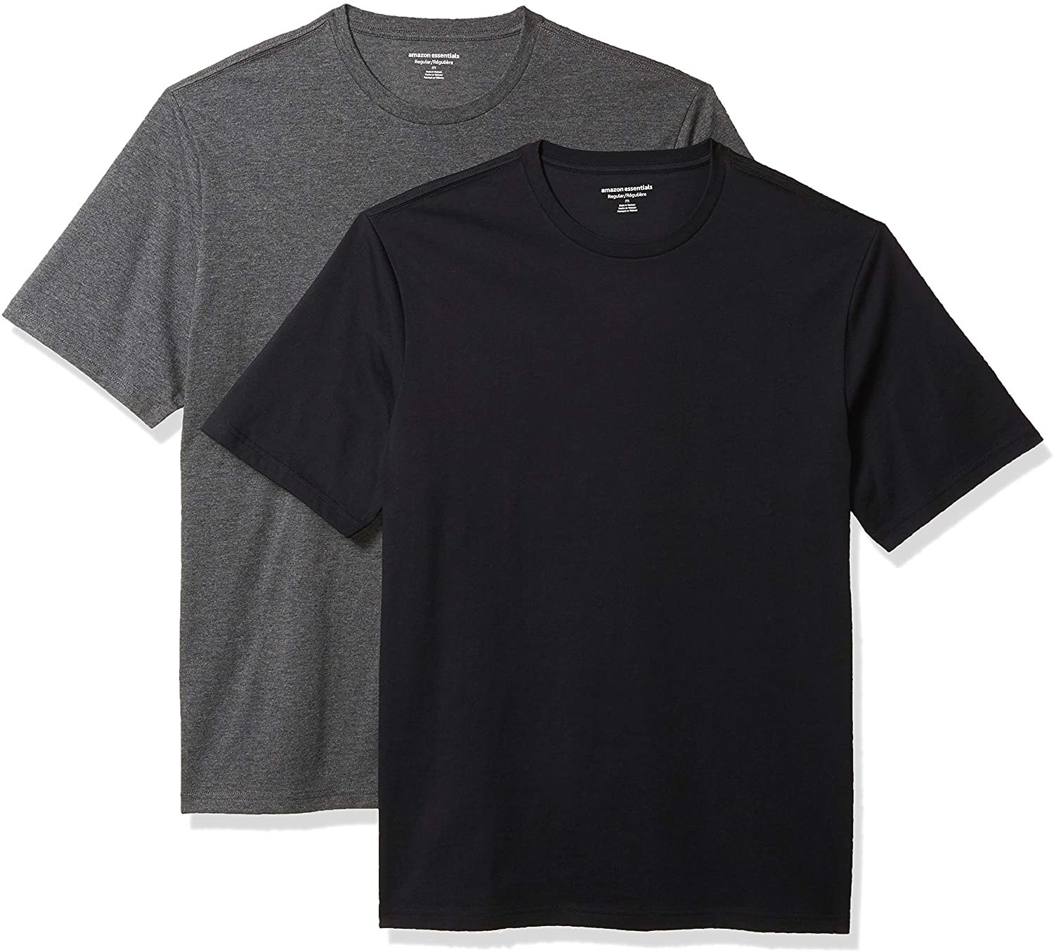 the gray and black T-shirts