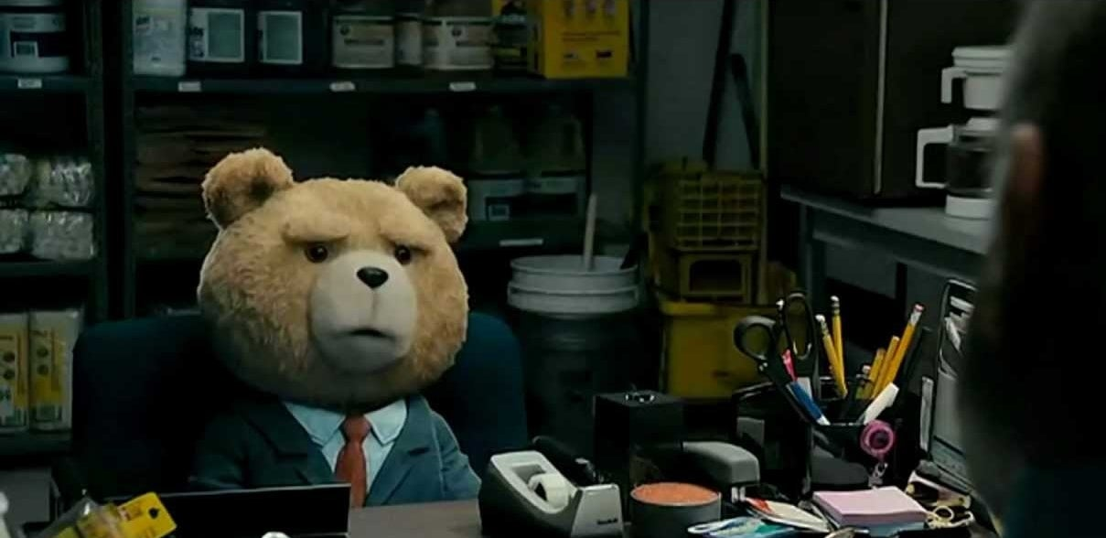 """Ted from the movie """"Ted"""" interviewing for a job"""
