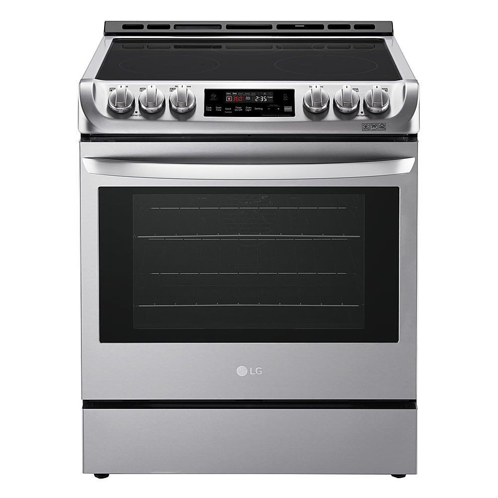 a stainless steel LG range