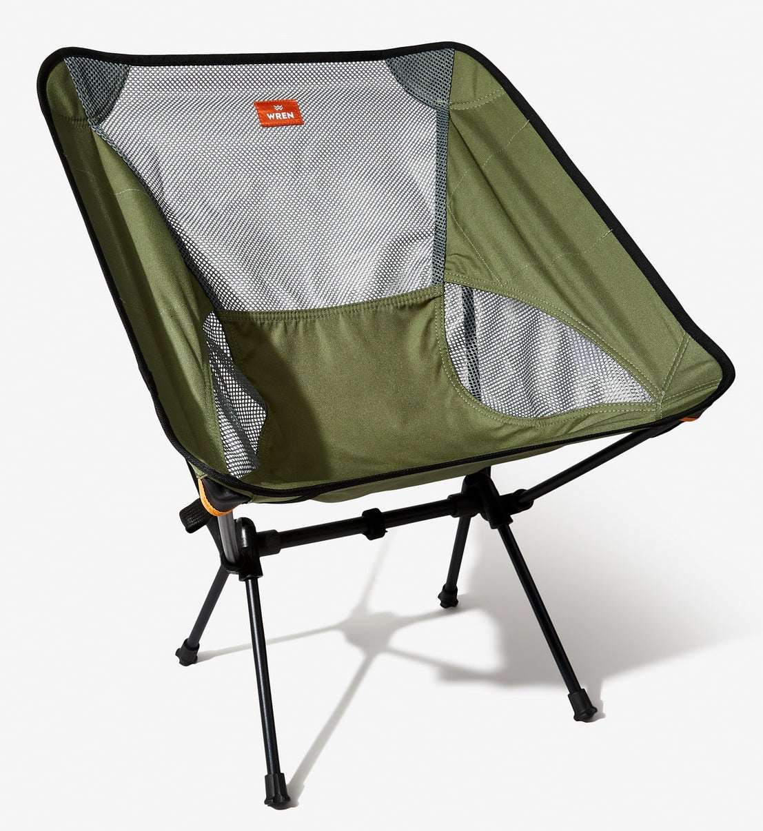 Collapsable canvas camping chair