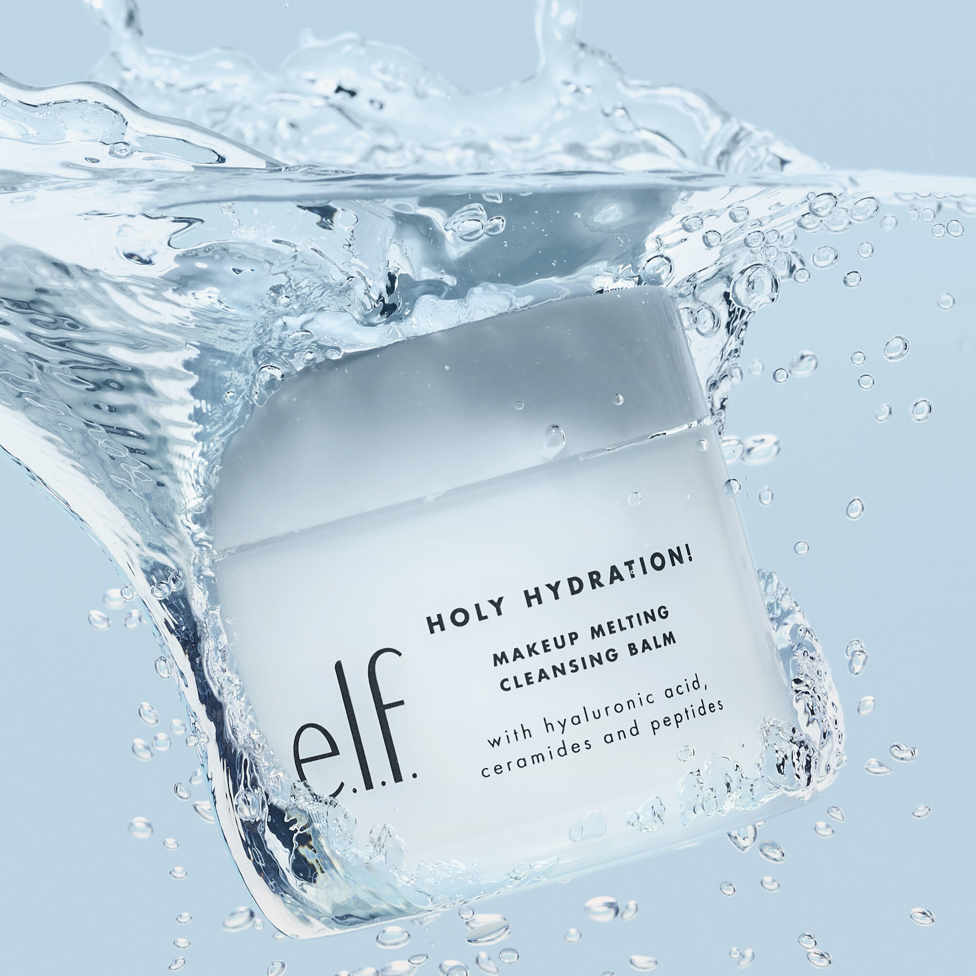 a light blue container of the makeup remover balm