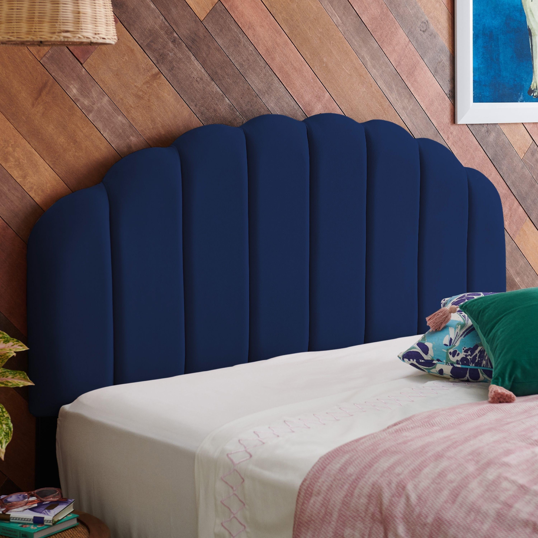 tufted blue backboard