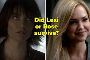 """Lauren Cohan as Rose-Maire and Arielle Kebbel as Lexi Branson in the show """"The Vampire Diaries."""""""