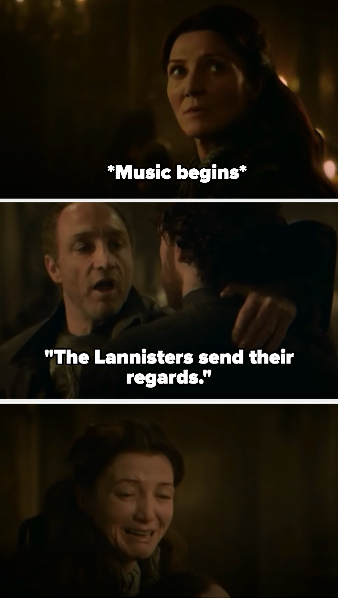 The song begins, and Catelyn cries as Robb is killed