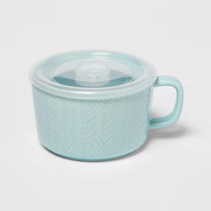 The teal soup mug
