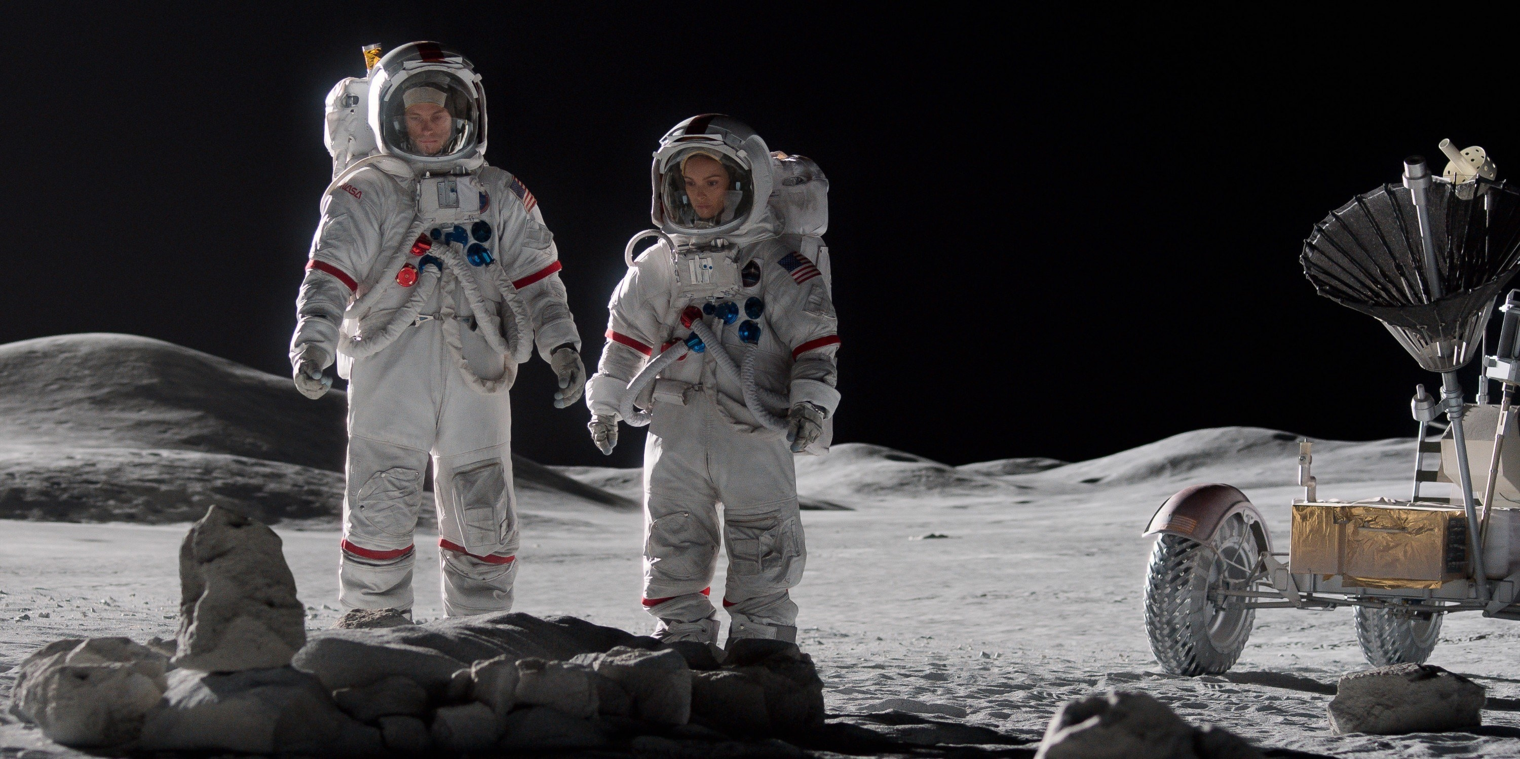 NASA astronauts on the moon in For All Mankind