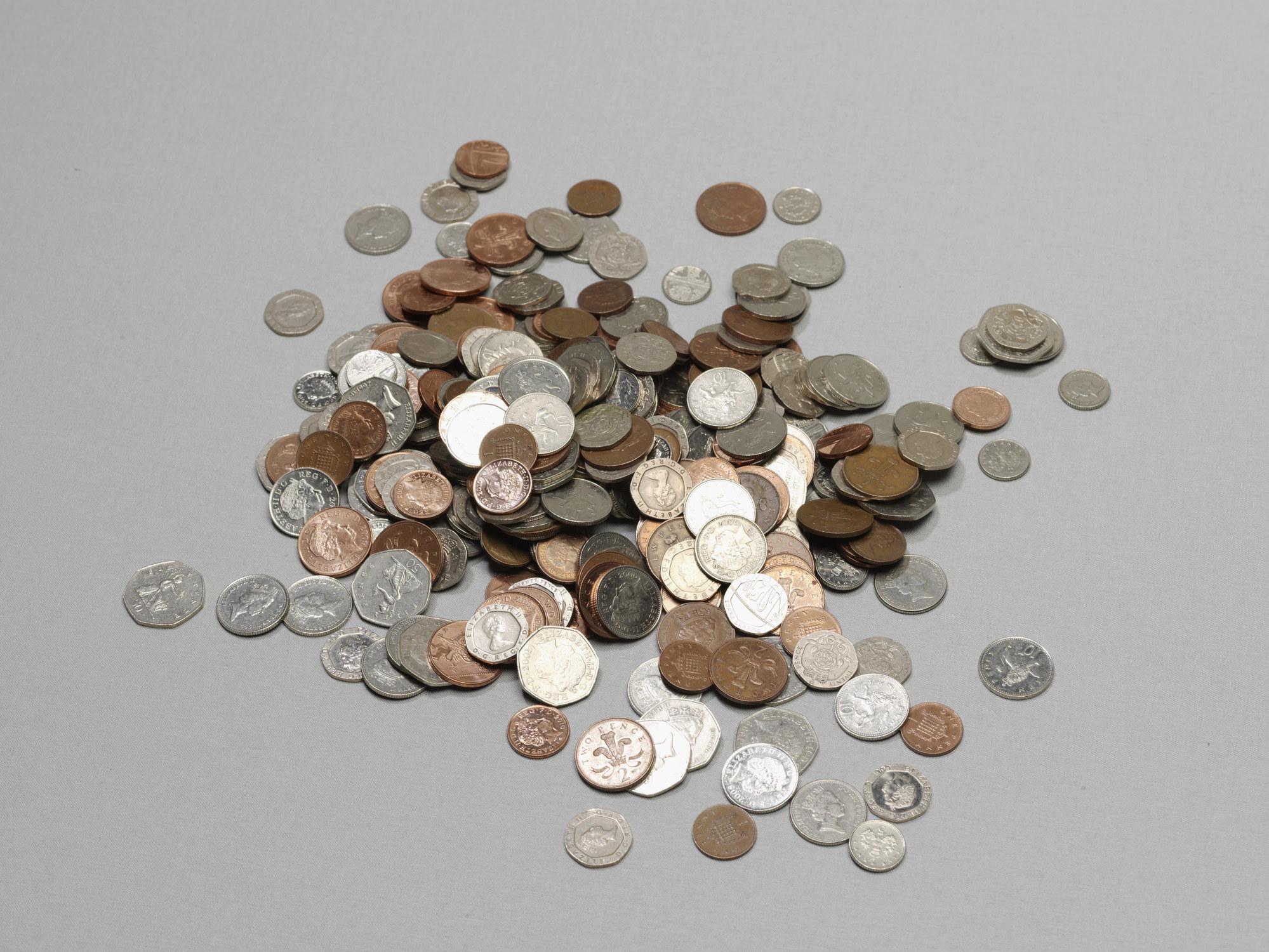 Pile of loose change