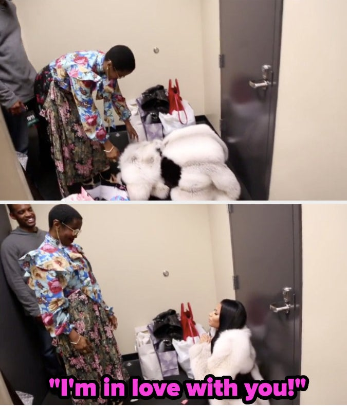 Nicki Minaj bowing down to Lauryn Hill when they first met