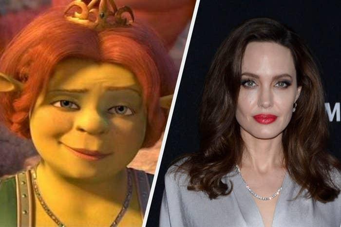 """Fiona from """"Shrek"""" and Angelina Jolie"""