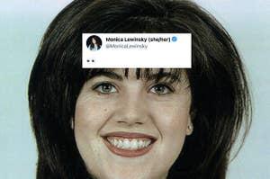 monica lewinsky with the eyes emoji