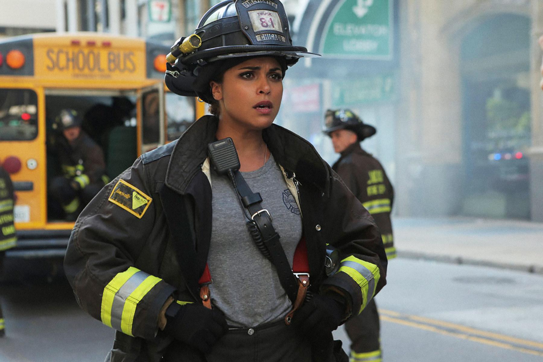 Gabriela in uniform in Chicago Fire