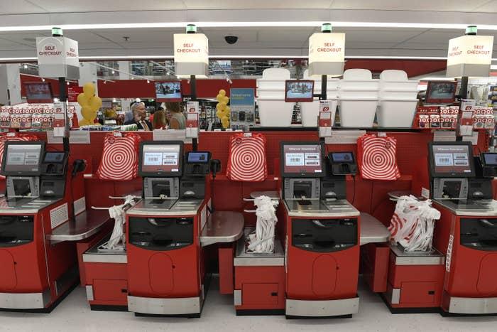 Self-checkout at Target