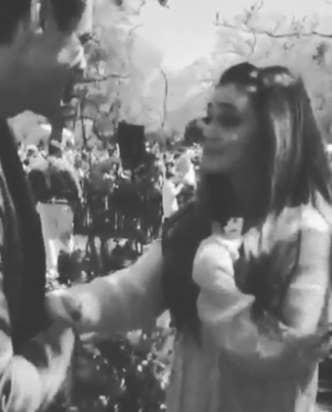 Ariana Grande meeting Jim Carrey