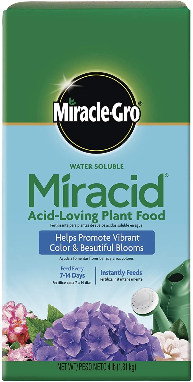 a pack of miracle grow plant food